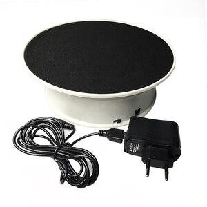 Image 1 - 20 ซม.360 องศาหมุนไฟฟ้าTurntableขาตั้งจอแสดงผลสำหรับการถ่ายภาพโหลดสูงสุด 1.5 กก.ถ่ายภาพpropsแผ่นเสียงแบตเตอรี่