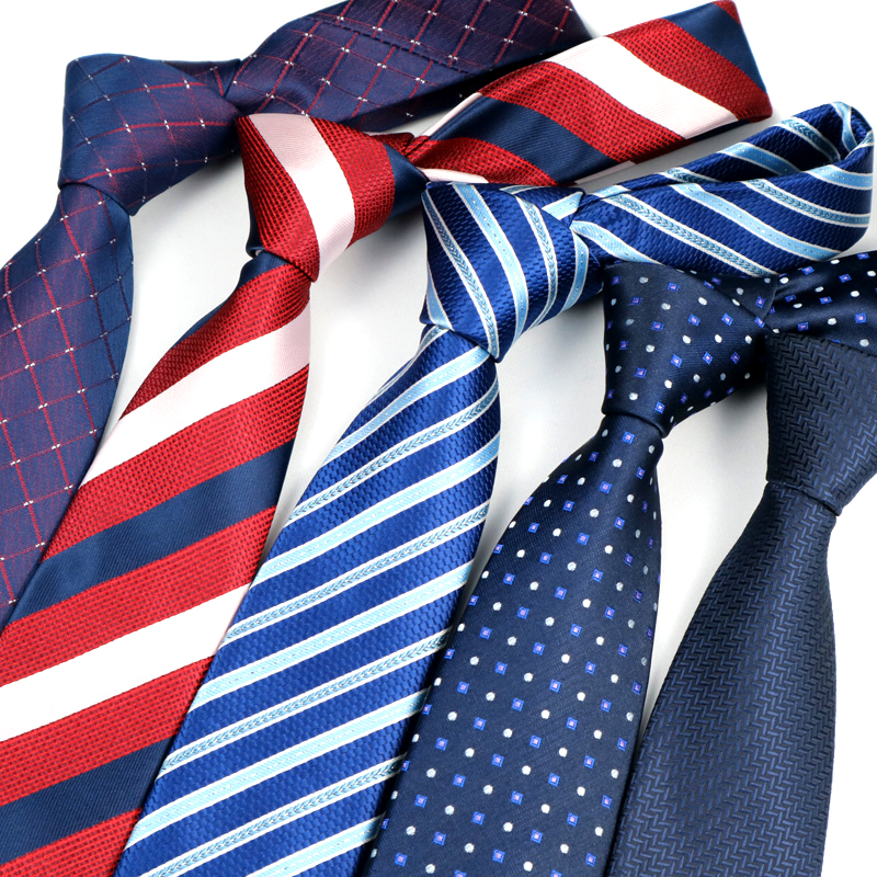 YISHLINE NEW 7CM Mens Tiea Floral Paisley Dots Stripes Man Neck Tie Neckwear Bridegroom Wedding Party Tie For Men Accessories