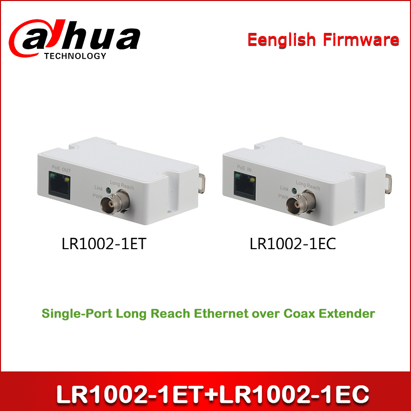 Dahua LR1002-1ET + LR1002-1EC Single-Port Long Reach Ethernet Over Coax Extender One Pair BNC