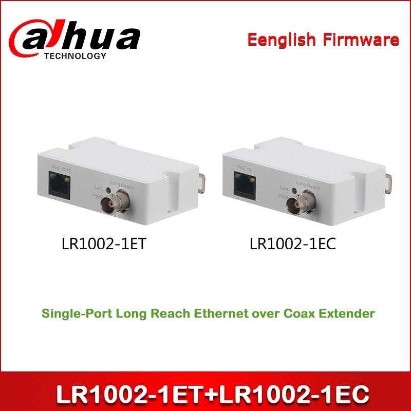 Dahua LR1002-1ET + LR1002-1EC Single-Port Long Reach Ethernet Over Coax Extender One Pair BNC