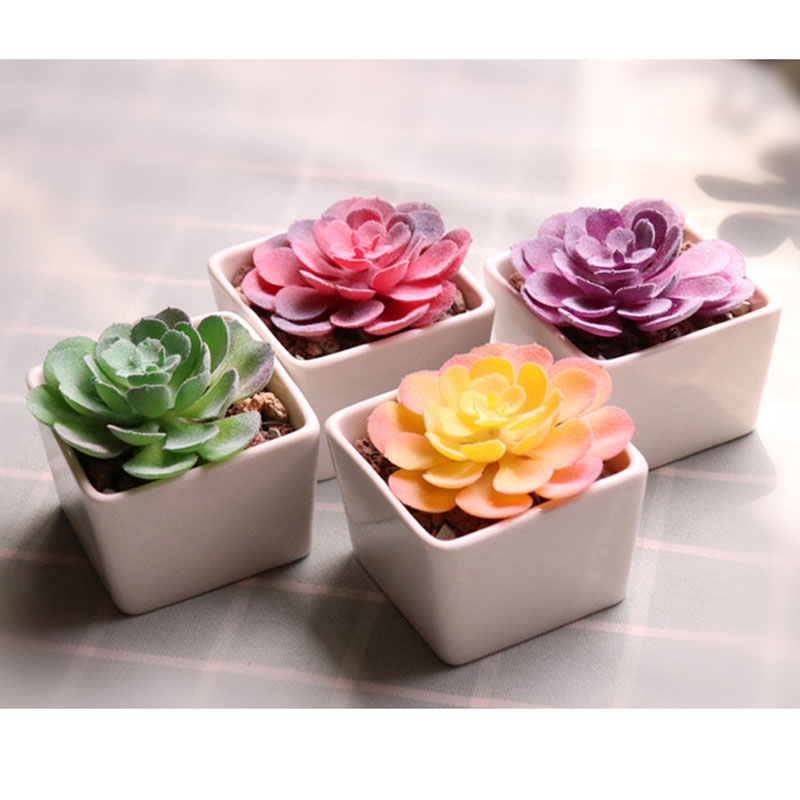 Lotus Home Decor Bonsai Fake Flowers Floral Craft Artificial Plants Succulents