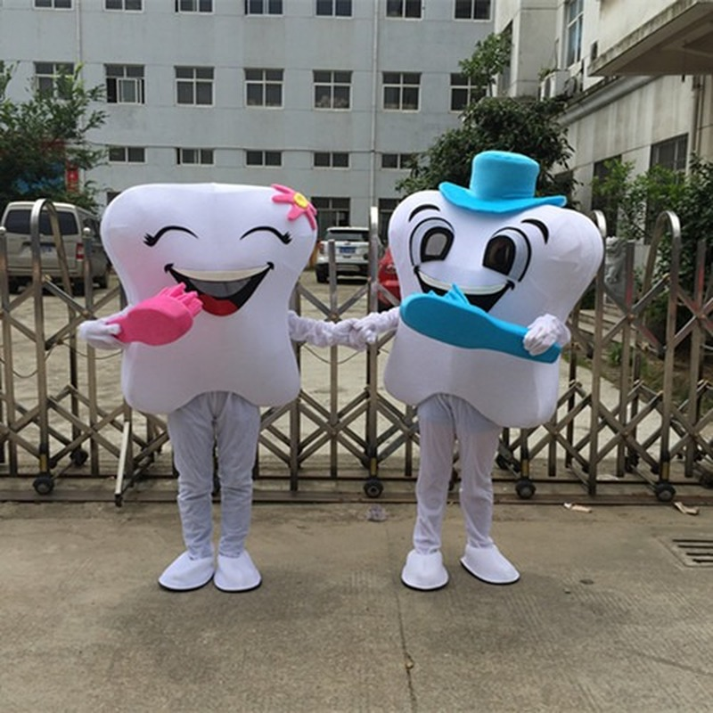 Tooth Mascot Costume Suits Cosplay Party Game Dress Outfits Clothing Birthday Cartoon Character Halloween Xmas Easter Festival