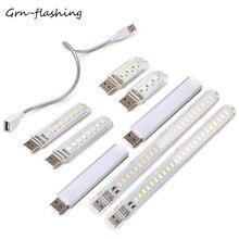 MINI USB Night Light LED Reading DC5V Portable Desk Lamp White/Warm White Emitting Color For Computer Laptop Notebook