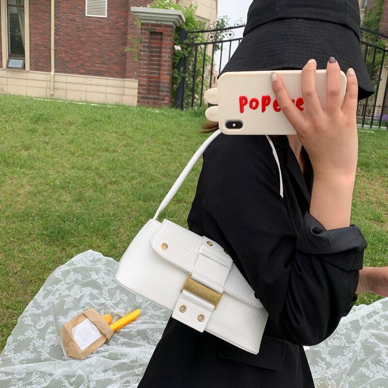 Купить женские сумки для подмышек с клапаном однотонные дамские сумочки