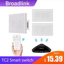 Broadlink TC2 1/2/3Gang 433MHZ connexion mur tactile panneau lumineux commutateur télécommande norme américaine pour système de maison intelligente 2019New