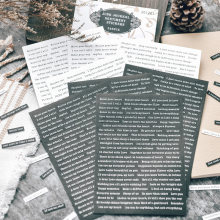 Autocollants de mots en noir et blanc, étiquette en papier pour Scrapbooking, papeterie pour journal intime, décoration d'album, 8 feuilles