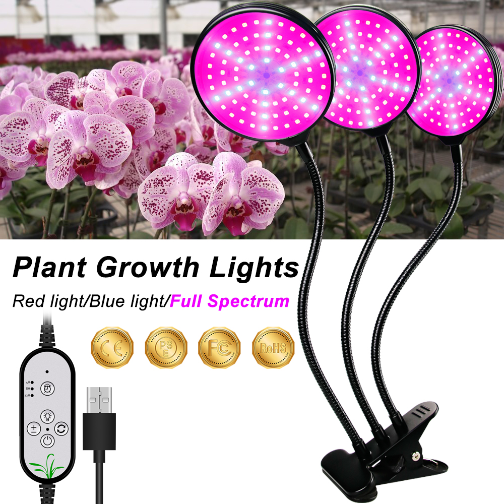 LED Phyto Lamp USB 5V LED Grow Lamp Full Spectrum Plant Lamp Fitolamp For Indoor Seedlings Flower Fitolampy Grow Tent Indoor