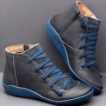 Kobiety płaskie Zip botki Vintage wiosna panie futro krótki pluszowy krzyż pasek kobieta platformy buty kobieta Casual damskie