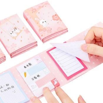 цена на 12packs /lot Sweet Rabbit Sticky Self-Adhesive Memo Pad N Times Sticky Notes Office School Supplies