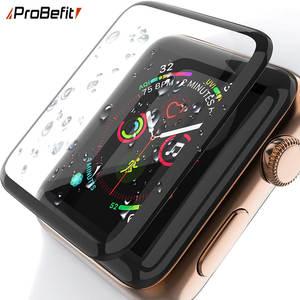 Экран-протектор-пленка закаленные стекла часы серии изогнутые края яблоко 44mm 1-38mm 3d HD