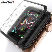 3D zakrzywiona krawędź HD szkło hartowane dla Apple Watch seria 3 2 1 38MM 42MM folia zabezpieczająca ekran dla iWatch 4 5 6 SE 40MM 44MM tanie tanio ProBefit CN (pochodzenie) Odporne na zarysowania TEMPERED GLASS For apple watch for apple watch screen protector for apple watch temepered glass