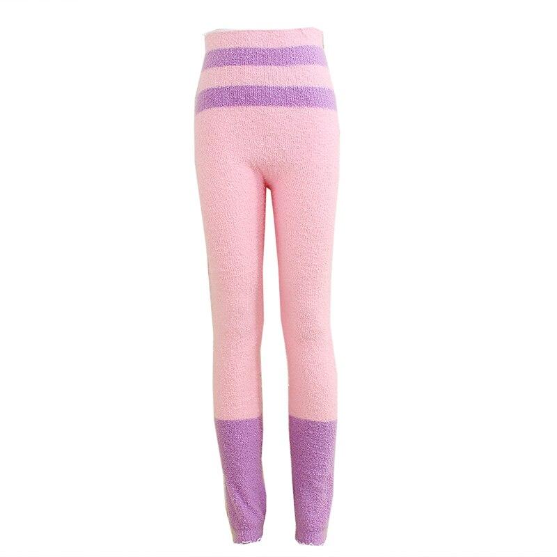 Теплые штаны из микрофибры, эластичные брюки для женщин, сохраняющие тепло, домашние штаны в физиологический период для увеличения - Цвет: FCY