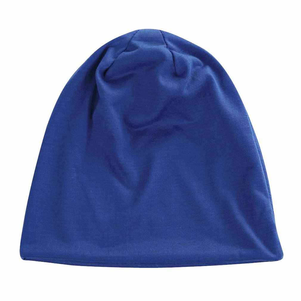 Harajuku estilo açúcar cor pilha tampões de malha masculino e feminino outono e inverno gorros bonés simples moda casual chapéus quentes