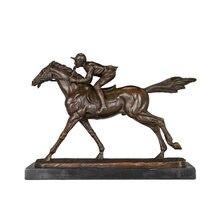 Статуя лошади райдера статуя гонщика Лидер продаж бронзовая