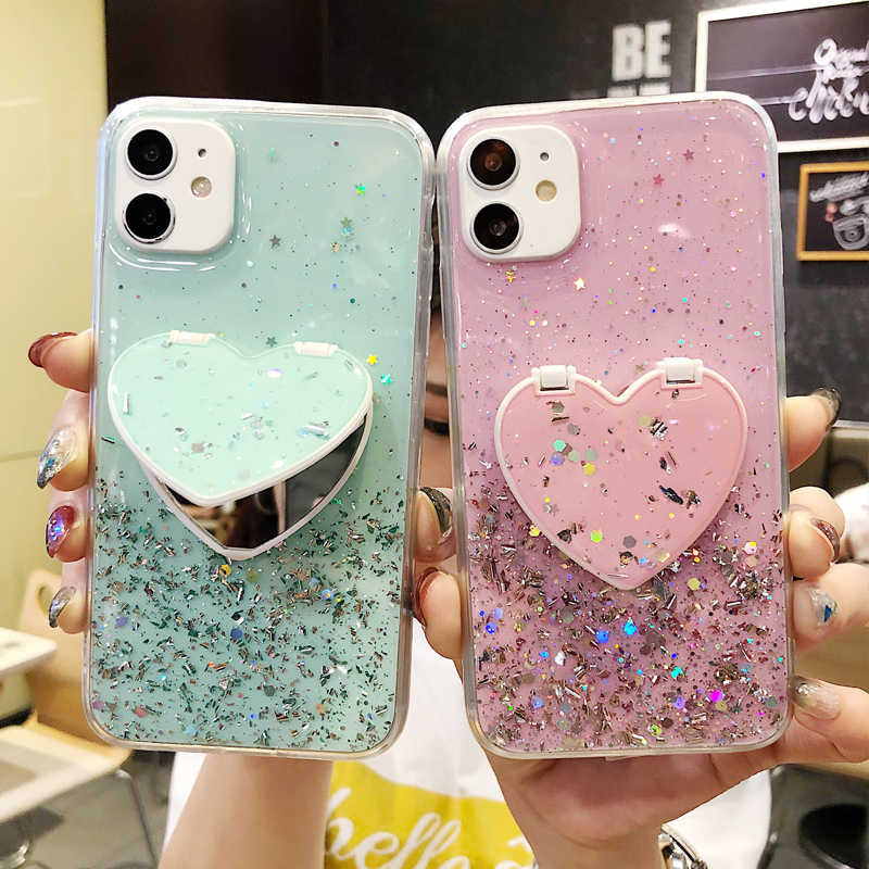 For Samsung Galaxy A 71 51 S 20 Plus Lite Note 10 M 80 90 70 <font><b>50</b></font> <font><b>40</b></font> 30 20 10 91 S E Ultra Case Fashion Glitter Mobile Phone Bag image