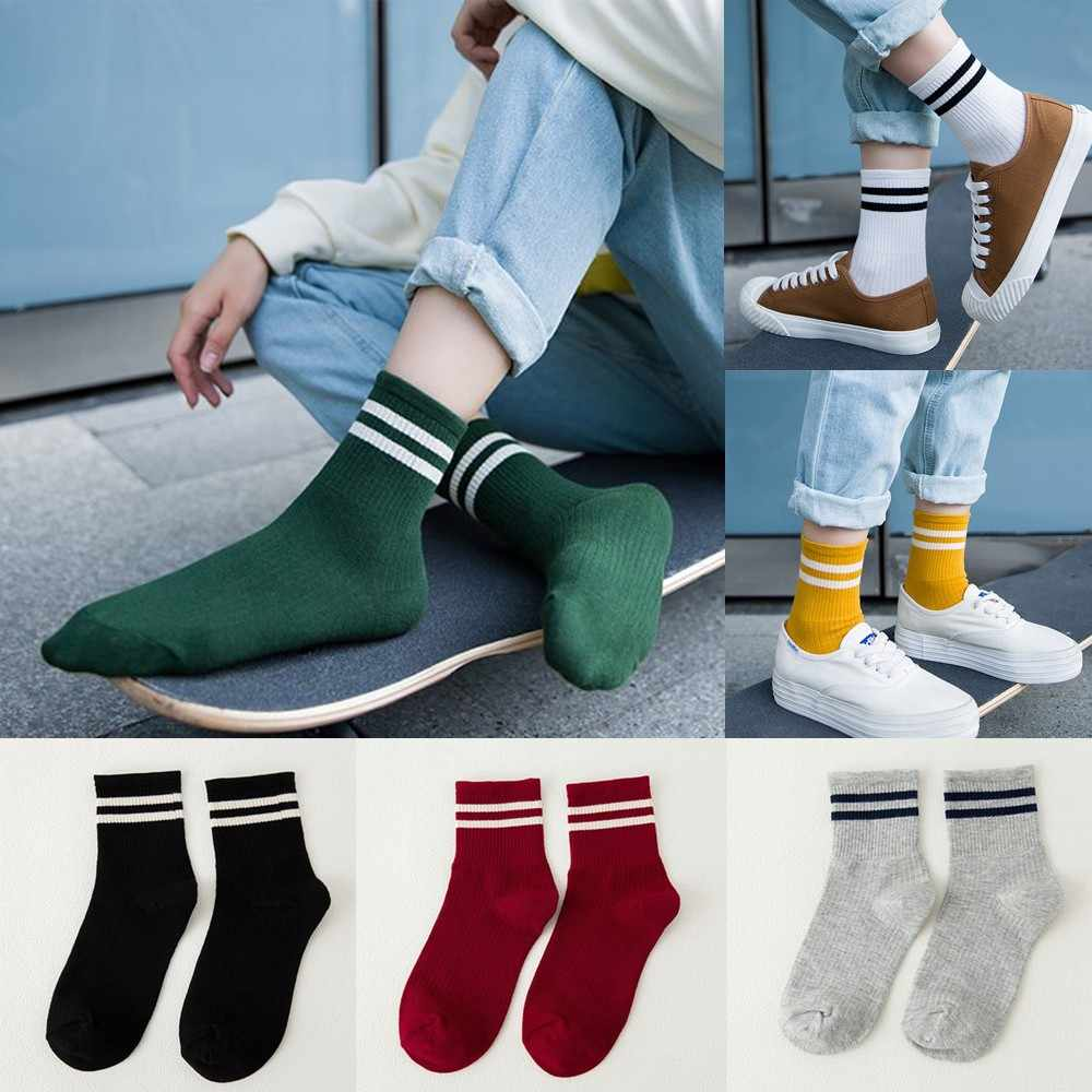 Stripe Cotton Skateboard Sock Comfortable Socks #9