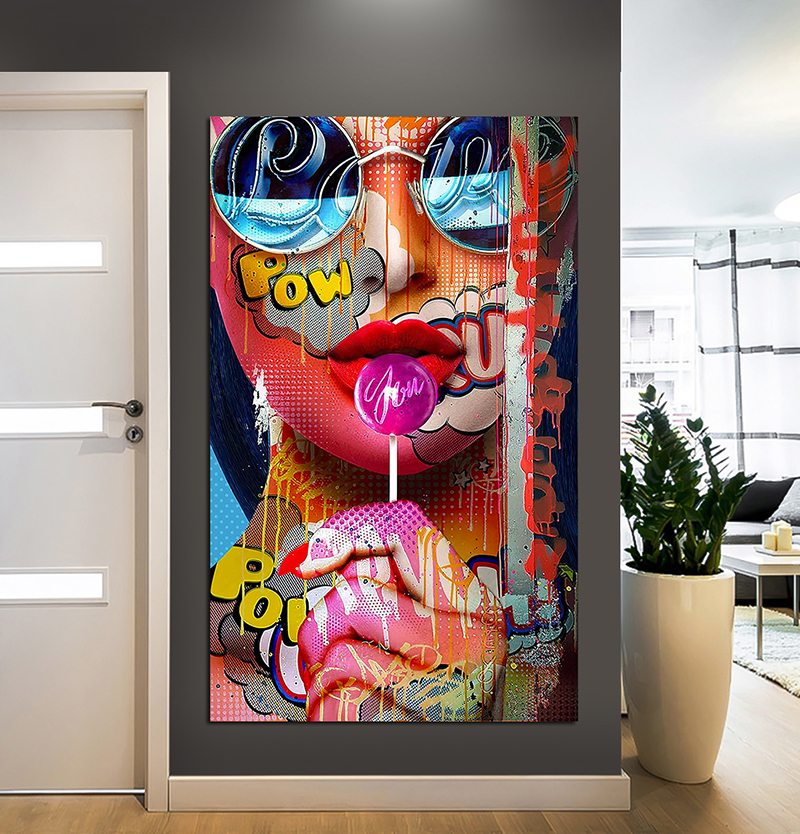 Graffiti Women Portrait Oil Painting Posters and Prints Wall Decor for Living Room Canvas Painting Wall Art Picture Home Decor(China)