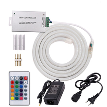 SMD 2835 LED Neon Light DC12V RGB Strip Flexible Waterproof Rope Sign With 24key Controller