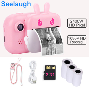 Camera For Kids Children Camera Instant Print 1080P HD Camera With Thermal Photo Paper Toys Camera Birthday Gifts Children Toys