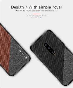 Image 5 - PINWUYO étui en cuir pour Oneplus 7 étui tresse Design tissu souple PC dur protection coque de téléphone OnePlus 7 Pro couverture