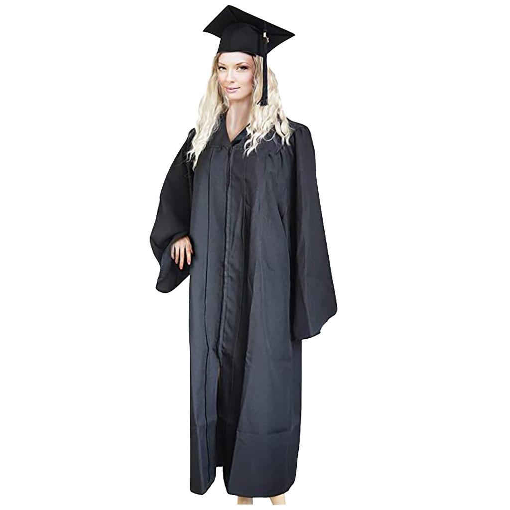 Yetişkin bekarlığa veda elbiseler + şapka seti üniversite mezuniyet elbisesi öğrenci lise sınıf takım elbise akademik elbise # a3