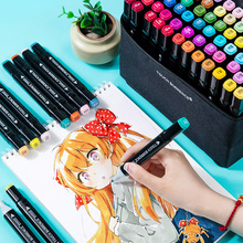 Marker 168 Pcs 168 Colors Single Art Markers Brush Pen Sketch Alcohol Based Markers Dual Head Manga Drawing Pens Art Supplies