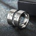 Футболки с надписями для женщин кольцо его всегда ее навсегда кольца мужские свадебные пары Симпатичные Модные ювелирные изделия металлич...