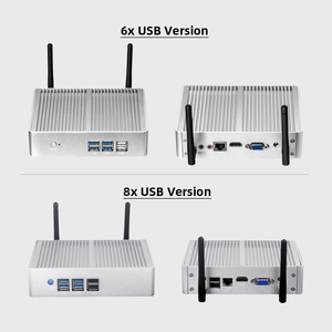 Image 2 - XCY Fanless Mini PC Intel Core i7 4610Y i5 4200Y i3 4010Y DDR3L mSATA SSD HDMI VGA 6 * USB wiFi Gigabit LAN Windows 10 Linux HTPC