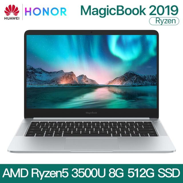 HUAWEI HONOR MagicBook 2019 Taccuino Del Computer Portatile Del Computer 14 pollici AMD Ryzen 5 3500U 8G 256/512GB PCIE SSD FHD IPS Computer Portatili ultrabook