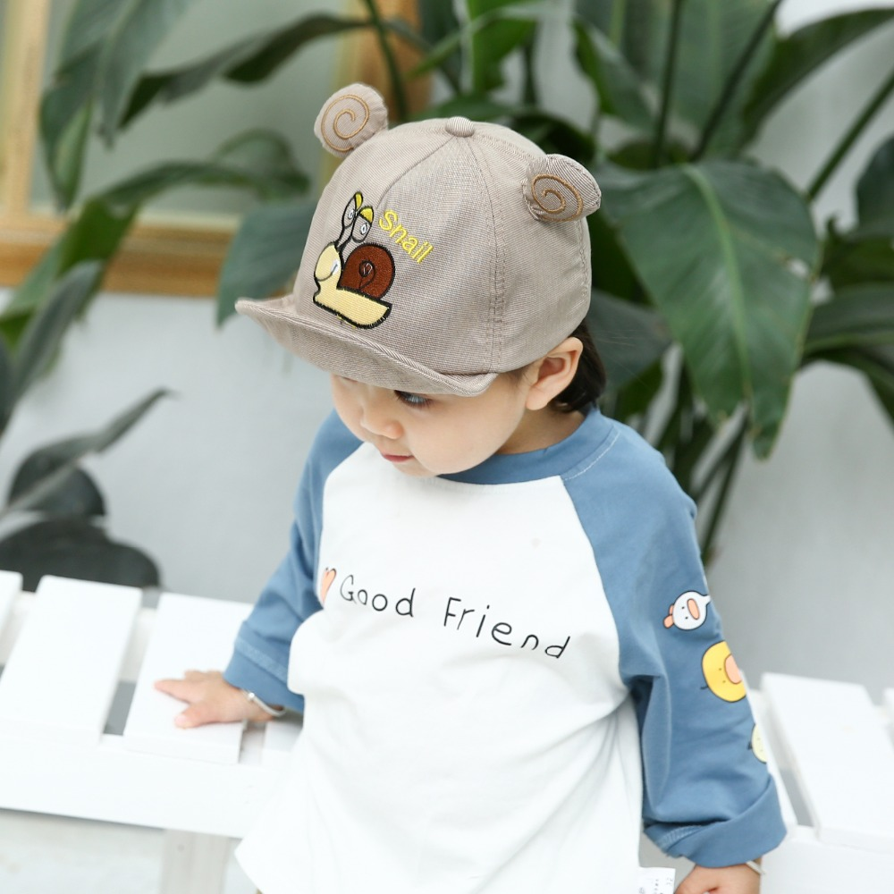 Haae72d6d330546e3bdbad11d78f95680O - Baby Hat Cute Bear Embroidered Kids Girl Boy Caps Cotton Adjustable Newborn Baseball Cap Infant Toddler Beach Outdoor Sun Hat