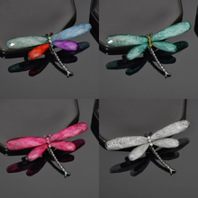 2019 Fashion Colorful Dragonfly Broochs For Women Rhinestone Acrylic Brooch Pin Badge Jewely Enamel Pins Clothes Accessories