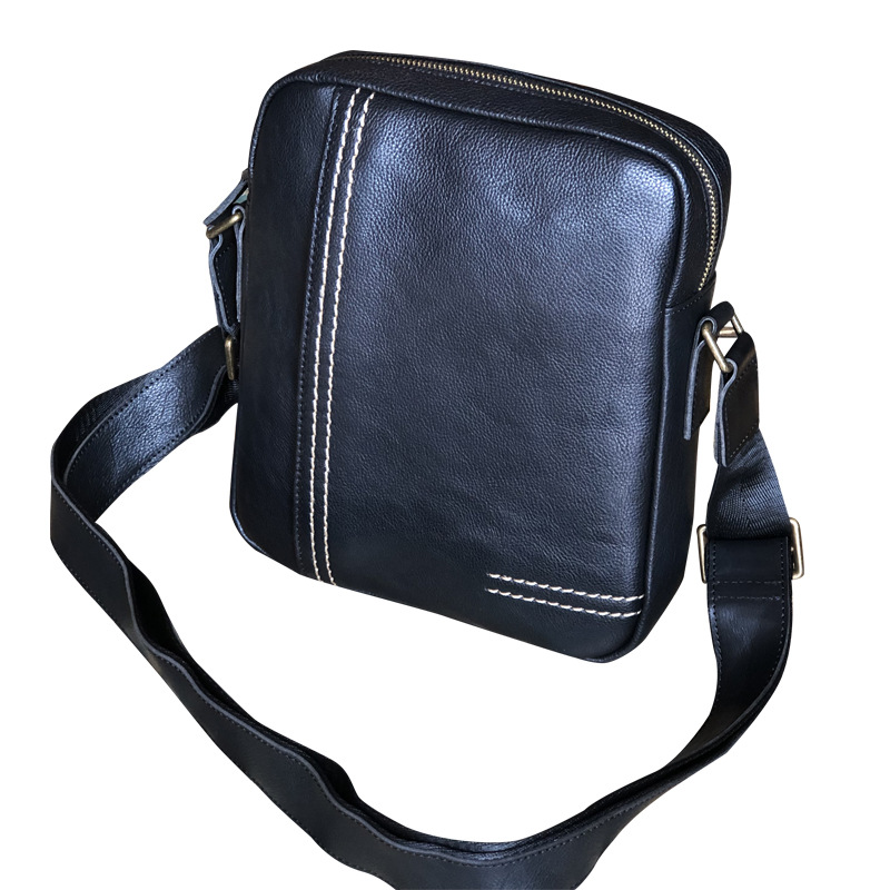 Men's Shoulder Bag Korean-style Casual Backpack Youth Shoulder Bag Vertical Soft Leather Briefcase Fashion Business MENS Bag