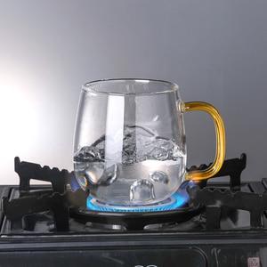 Image 4 - Borosilikat cam çay demlik kupa bardak şeffaf filtre kolu bambu kapak için yüksek sıcaklık dayanımı çiçek çay fincanı