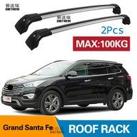 SHITURUI 2Pcs Roof bars For Hyundai Grand Santa Fe SUV 2013 2020 Aluminum Alloy Side Bars Cross Rails Roof Rack Luggage