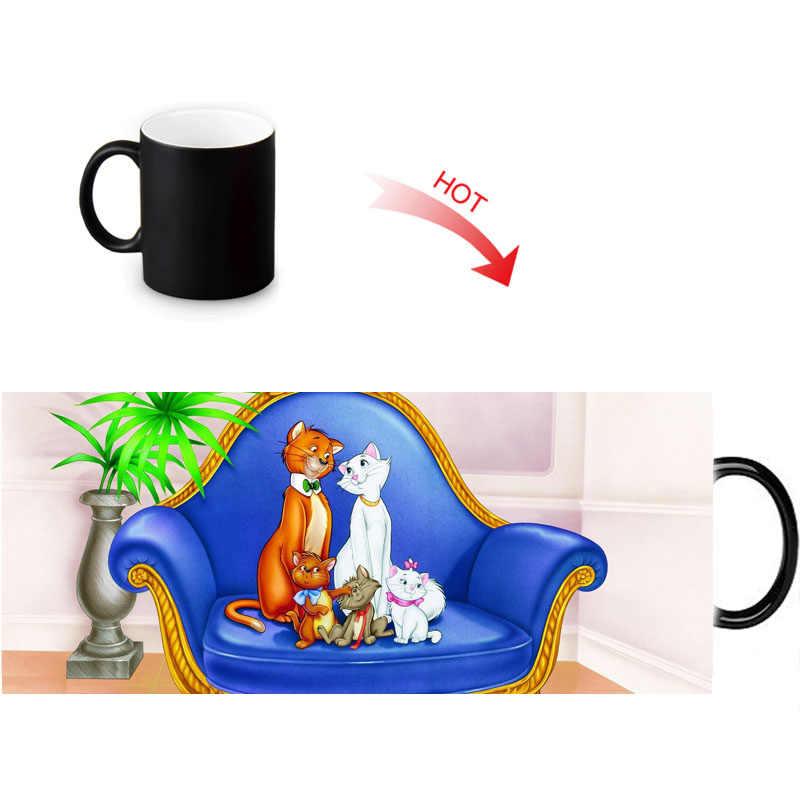 كوب من السيراميك من aristock ats حساس للحرارة ، أكواب متغيرة الألوان ، كوب قهوة شرب رائع ، هدايا رائعة
