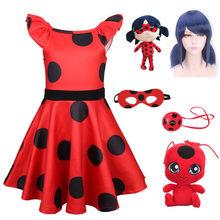 Vermelho bug festa vestido redbug cosplay meninas vestido halloween traje do bebê meninas vestidos de ação de graças traje carnaval trajes