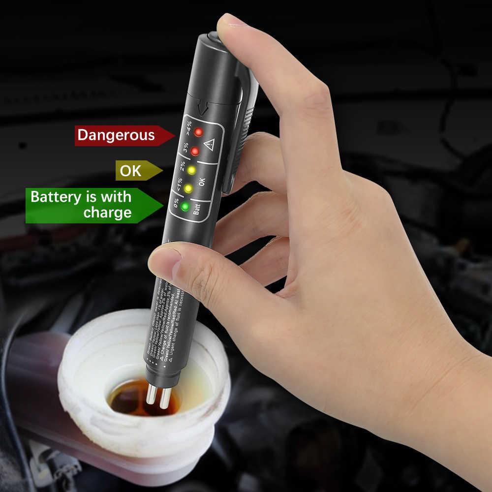 MINI Rem Cairan Pena Otomotif Universal Detektor DOT3/DOT4/DOT5 Pengujian 5 LED Cairan Rem Mobil alat diagnostik