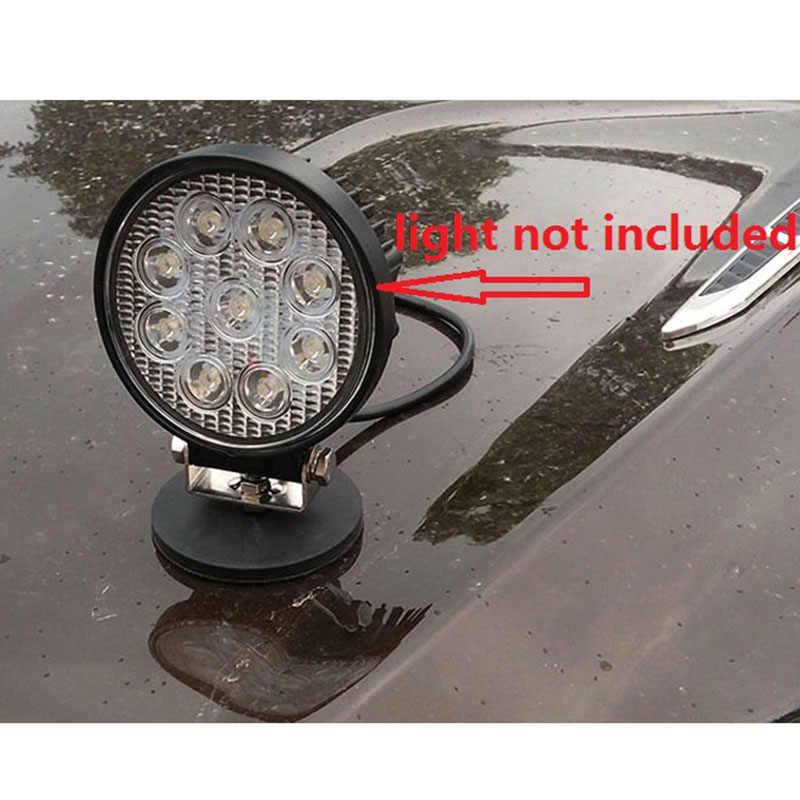 2 pièces 45KG puissant néodyme aimant disque caoutchouc coché D88x8Mm M8 filetage Surface protection lumière LED caméra voiture montage aimant fo