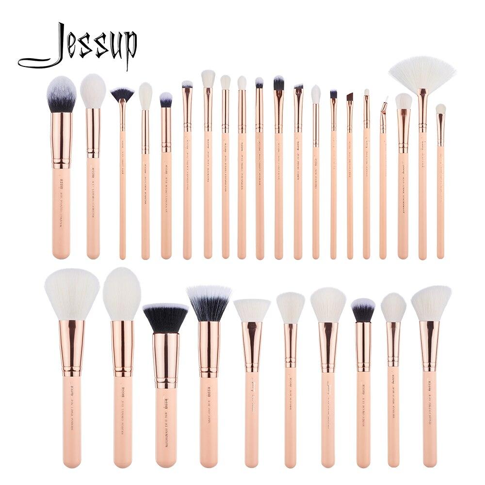 Jessup szczotki 30 sztuk pędzle do makijażu zestaw narzędzi kosmetycznych zestawy kosmetyczne Make up brush POWDER FOUNDATION cień do powiek w Aplikatory cieni do powiek od Uroda i zdrowie na  Grupa 1