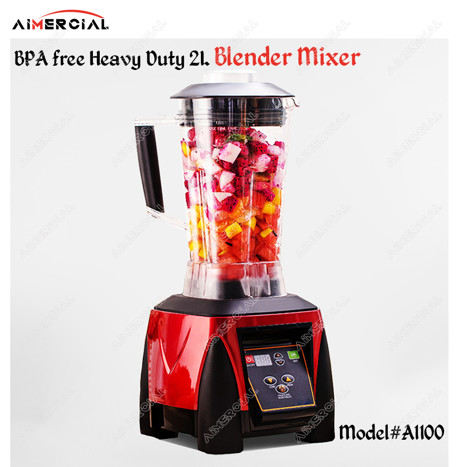 A1100 BPA free 2200W Heavy Duty 2L Blender Mixer Commercial Juicer Food Processor Ice Smoothie Blender with Japan Blade