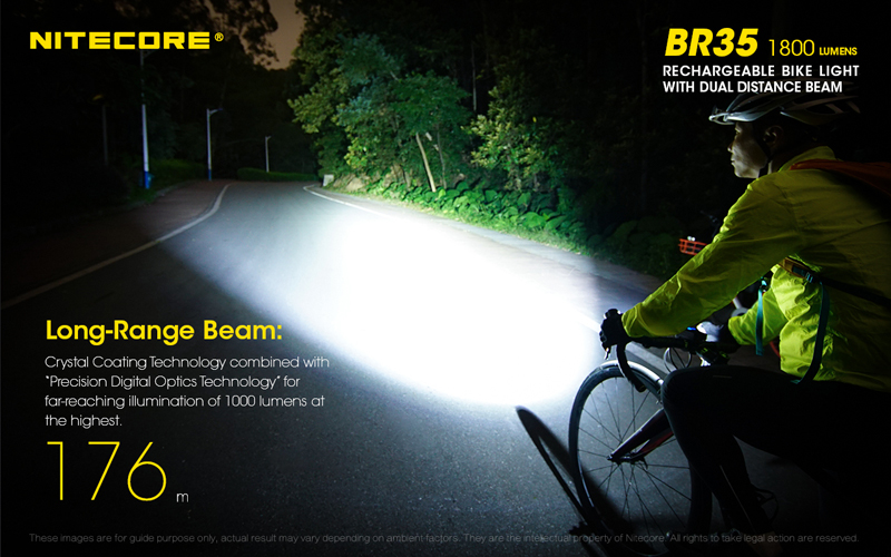 Nitecore BR35 1800 Lumens Rechargeable Bike Bicycle Front Light (4)