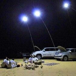 360 ° télescopique COB Rod LED pêche en plein air Camping lanterne lumière lampe randonnée BBQ ic puce jardin d'urgence travail lumière projecteurs