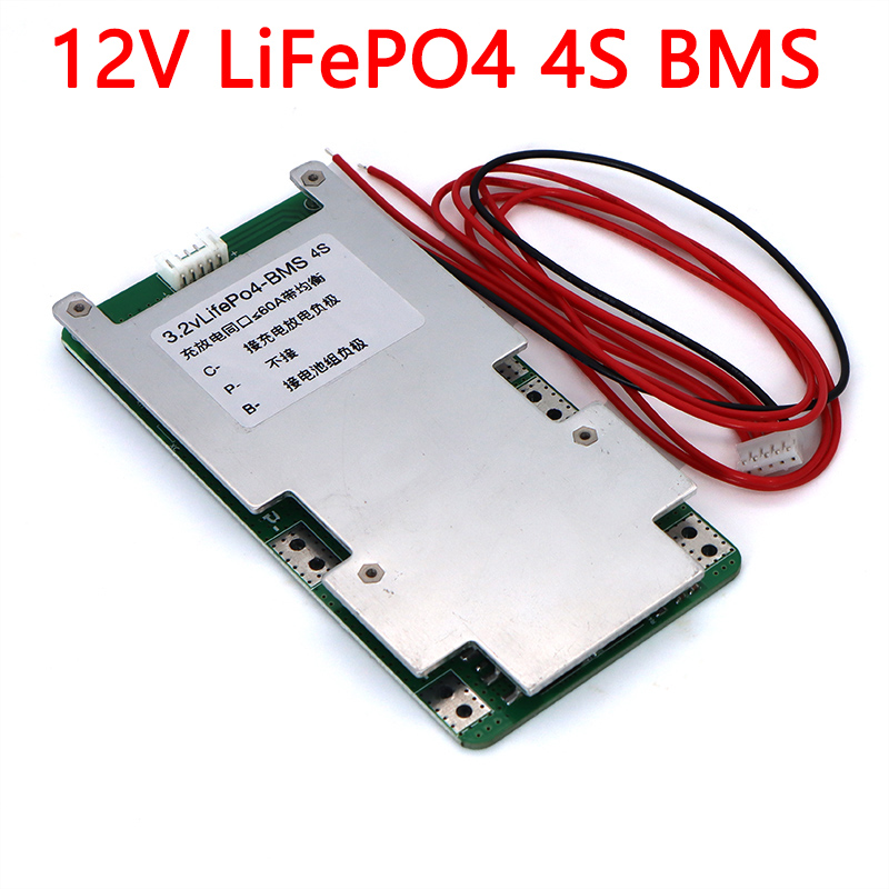 <font><b>12V</b></font> <font><b>BMS</b></font> 3.2V 4S LiFePO4 Lithium Battery pack 60A 150A for Energy Storage solar system PCB With Balance image