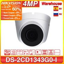 Hikvision DS 2CD1343G0 I POE Camera Video Surveillance 4MP IR Network Dome Camera 30M IR IP67 H.265+ 3D DNR