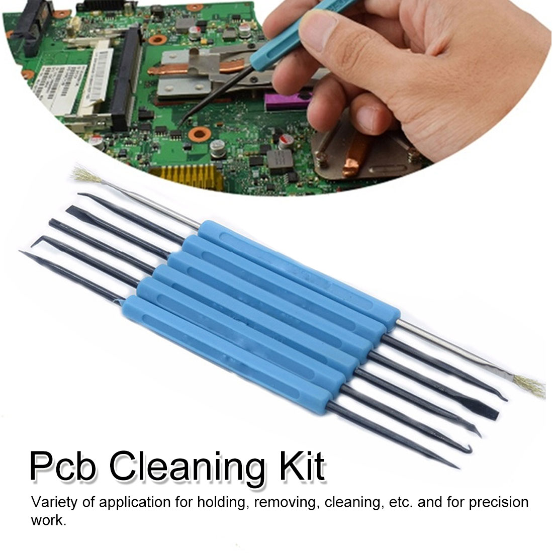 Soldering Tool 6Pcs Desoldering Aid Tool Circuit Board Soldering Service Welding Auxiliary Tools Set PCB Cleaning Kit