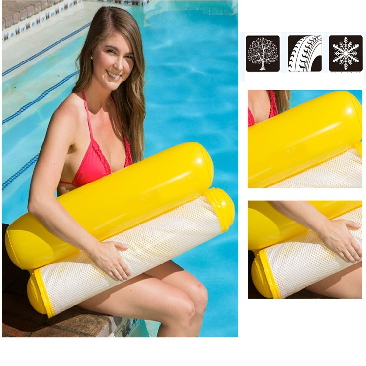 Water hammock recliner inflatable floating Swimming Mattress sea swimming ring Pool Party Toy lounge bed for swimming 4