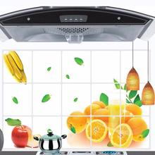 Kitchen Oilproof Removable Wall Stickers Art Decor Home Decal Dining Hall Wallpapers DIY Wall Stickers Fruit Decal WYY