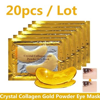 20Pcs Crystal Collagen Gold Powder Eye Mask Anti-Aging Dark Circles Acne Beauty Patches For Skin Care Korean Cosmetics