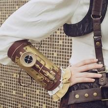 Gloves Accessories Arm-Warmers Steampunk Arm-Sleeve Women Black Metal-Decoration Streetwear
