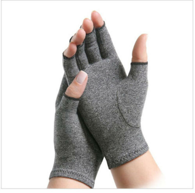 2019 New Copper Compression Gloves Carpal Arthritis Joint Pain Promote Circulation Comfortable Fingerless Flexible Gloves